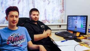 Games artist Elias Lundgren and game programmer Mattias Svensson Bergqvist.